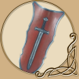 LARP Tower Shield Sword Red